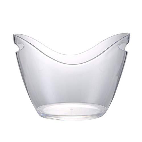 Appearanice Barra higiénica Transparente plástica Material de acrílico del Cubo de Hielo de la categoría alimenticia