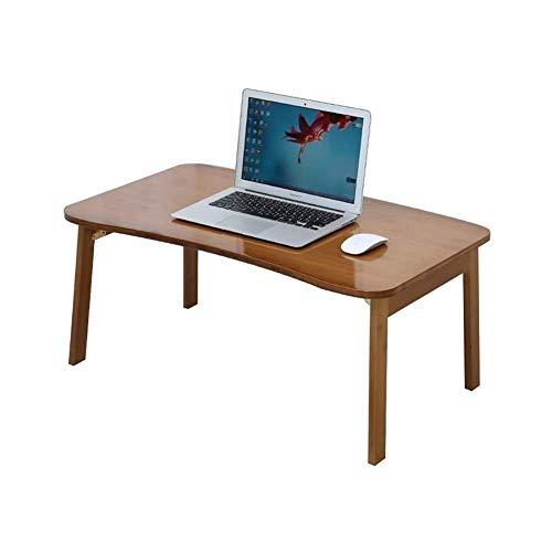 Mesa Escritorio de bambú Plegable para computadora Escritorio portátil Escritorio de diseño Curvo Esquina de Mesa Redonda Lisa Fácil de Limpiar Instalación Gratuita (Tamaño: B)