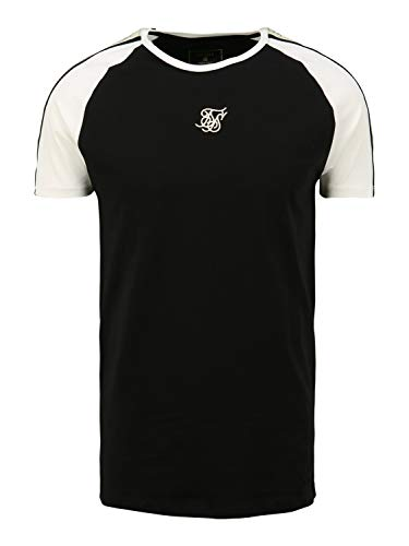 Sik Silk Camiseta Negra Mangas Blancas Premium Tape S