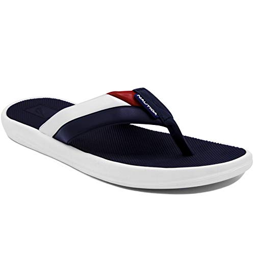 Nautica Men's Footrope Flip Flop, Beach Sandal, Boat Slide,