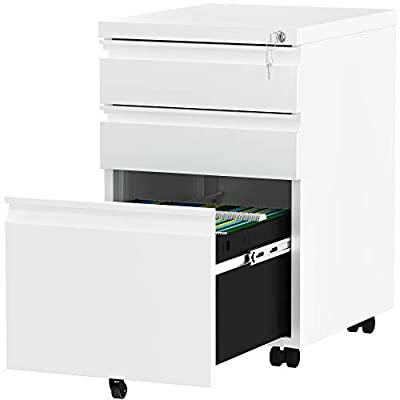 Amazon - Save 20%: YITAHOME 3-Drawer Rolling Filing Cabinet Office Drawers, Lockable Office…