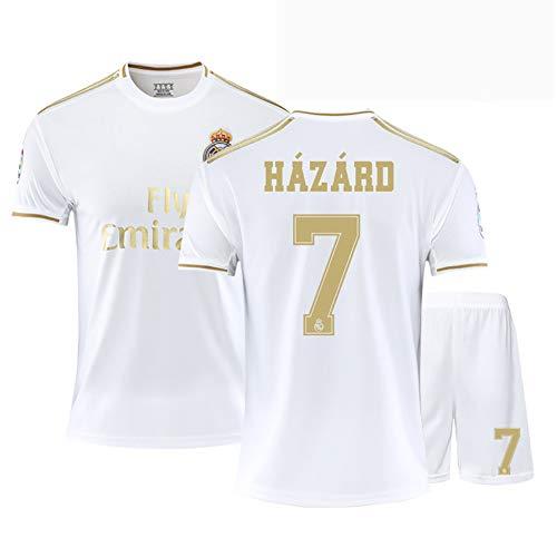 2020 Madrid Fußballuniform 7 Hazard Fußballtrikot Geschenkset Jugend Kindergrößen Fußballtrikot Shorts können nach Wunsch angepasst werden-B-22