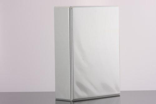 DIN A5 Ordner PVC in weiss 60 mm Rückenbreite, Füllhöhe 45 mm im 2er Pack, 4 er Reissmechanik