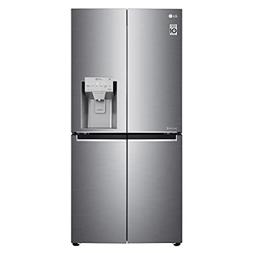 LG GML844PZKZ Frigorifero Americano Multidoor Total No Frost con Congelatore, 506 L, Door Cooling e Linear Cooling, Frigo Smart Multidoor con Dispenser Acqua e Ghiaccio, Wi-Fi, Display LED Esterno