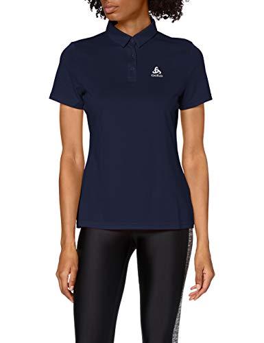 Odlo Polo s/s CARDADA Polo Shirt Femme Diving Navy FR : S (Taille Fabricant : S)