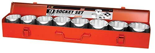 Performance Tool W1179 9-Piece 3/4-Inch Drive Jumbo Socket Set