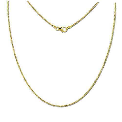 SilberDream collana in oro giallo 333Oro per Donna–Collier treccia 45cm–8carati–gda00645y