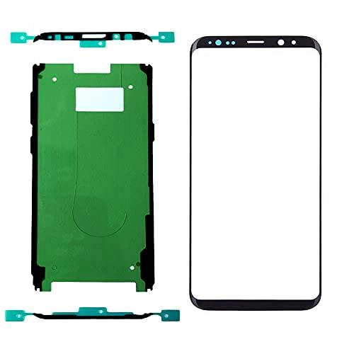 XFU Kit de Reparación Reemplazo de Vidrio Frontal LCD para Samsung Galaxy S8 Plus/S8+ G955 Vidrio de Pantalla táctil con Herramienta de Reparación (Negro)