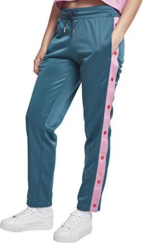 Urban Classics Damen Ladies Button Up Track Pants Sporthose,, per pack Mehrfarbig (jasper/coolpink/firered 01479), W28(Herstellergröße: M)