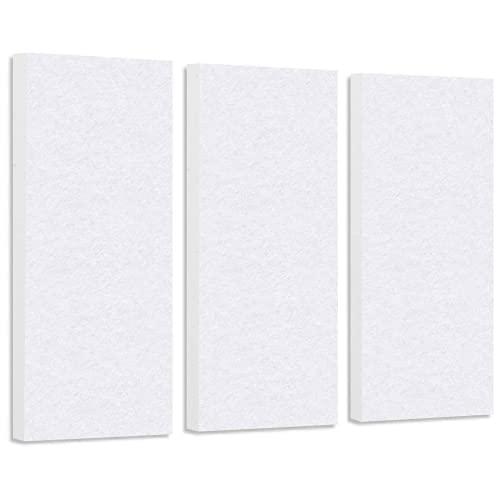 platino24 Schallabsorber-Set Colore aus Basotect G+ mit Akustikfilz, 3 Elemente in Weiß, Lärmreduzierung zur Verbesserung der Raumakustik