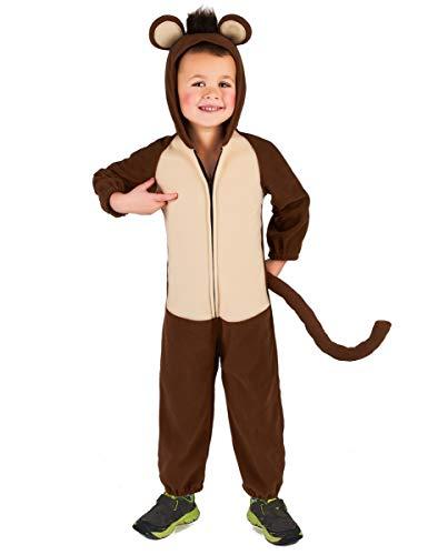 Generique - Affen-Kostüm für Kinder Overall braun-beige 110/116 (5-6 Jahre)