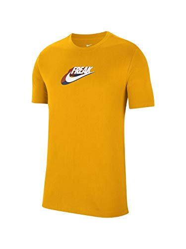 Camiseta Giannis GA M NK Dry Tee Swoosh Freak 2 amarillo L