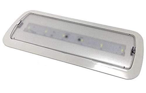 Luz de Emergencia LED empotrable o superficie 3W, 200 Lumenes. 3 Horas de Autonomía. Color Blanco Frío (6500K). (Pack 10x)
