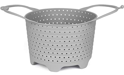 Instant Pot Silicone Steamer Basket or Sling - Non-Scratch, Foldable IP Insert Fits in 6 and 8 Quart Pressure Cookers and Cooking Pots - Original Accessory for Instant Pot