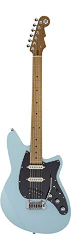 Reverend Six Gun TL Roasted Maple Fingerboard in Chronic Blue - E-Gitarre