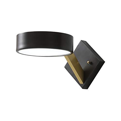 Lámpara de pared Creative Black Cobre Lámpara de pared Moderna Minimalista Minimalista Luz de Pared Acrílico Lámparas de Wall Sconence Lámparas para dormitorio Lateral de la Cama de la Cama Lectura Lu