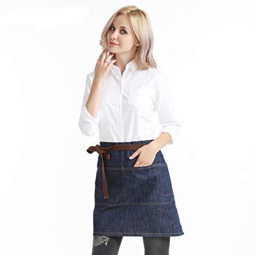 Schort LHY korte jeans mannen en vrouwen thuis keuken koken taille coffee shop-overalls comfortabel