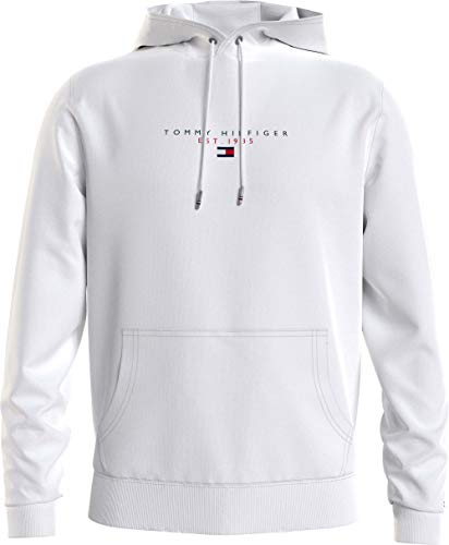 Tommy Hilfiger Essential Tommy Hoody Sweatshirt Capuche, Blanc, L Homme