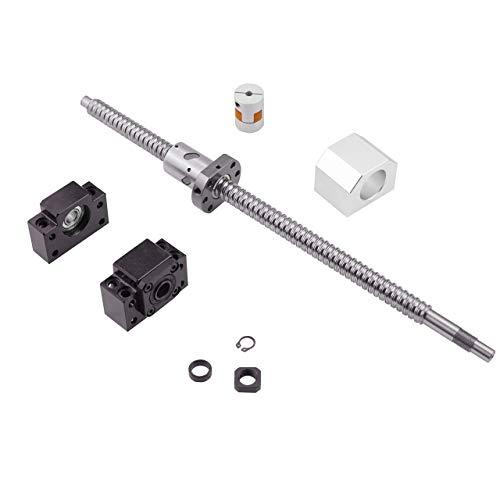 Vis à Billes CNC pièces SFU2510 RM2510 2000mm Diam 25mm avec ÉCROULogement D'écrou + Supports d'Extrémité BK/ BF20 + 1 pcs Coupleur pour Imprimante 3D longueur Approx 78.74 inch/ 2000mm