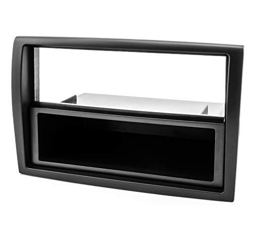 # 6210 # 1-DIN Panneau/che Autoradio 2 DIN pour,, en noir avec étagère