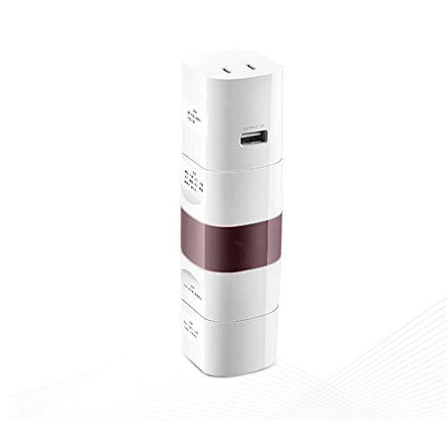 LQZHP Adaptador Universal eléctrico para enchufes de Viaje convertidor de Corriente Todo...