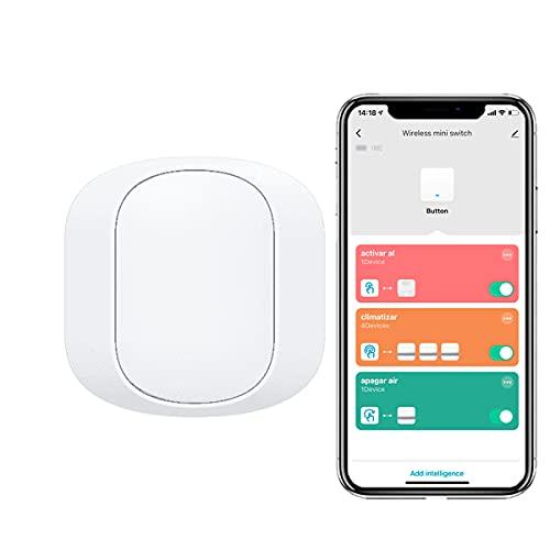 Mini Switch Zigbee, piccolo pulsante o mini interruttore wireless intelligente, Tuya Smart Security, crea automatizzazioni, 10-30 m App Tuya Smart richiede hub