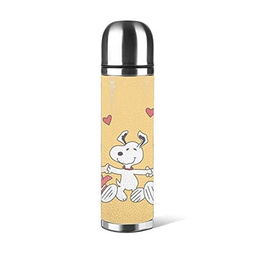 Snoopy - Termo de acero inoxidable para aspiradora con conservación de calor y conservación de frío de larga duración, tendencia creativa