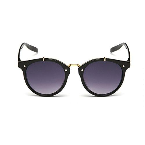 QHGstore Hombres Mujeres Nuevas gafas de sol al aire libre UV400 de conducción espejo Gafas Black/grey