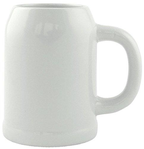 Bavariashop Steinzeug Krug 0,5 Liter, ohne Dekoration, Bierkrug, Hochwertiges Steingut, Geschenk