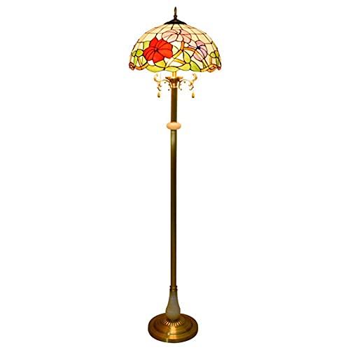 Worth having - Lampada da terra for soggiorno, lampada da terra paralume in vetro macchiato, lampada da lettura lampada da terra ad arco, portata di applicazioni ristoranti home, club, hotel, bar, ecc