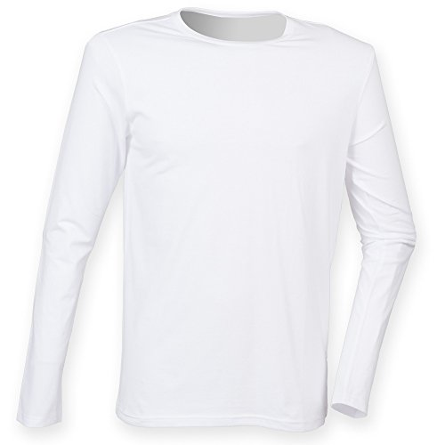 Skinni Fit Feel Good - T-shirt à manches longues - Homme (2XL) (Blanc)