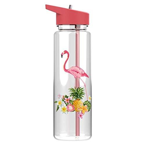 XMYNB Botella Botella De Agua Deportiva De 720Ml Con Paja, Impresión Del Deporte Botella Waterbottle Para Las Mujeres Chica Viajes Taza De Agua Tetera