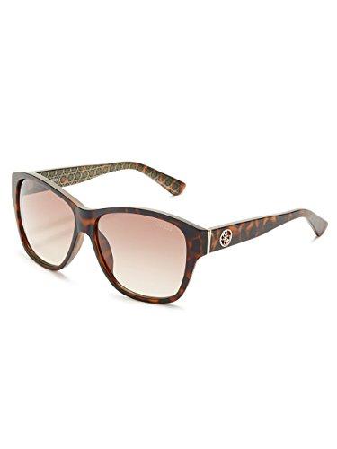 Guess GU7412E Gafas de sol, Marrón (Avana ScuraMarrone Grad), 59.0 Unisex Adulto