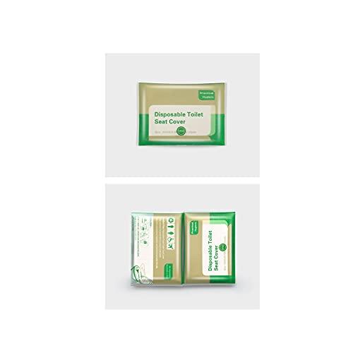 KIDO Cubierta de Asiento de Inodoro desechable, Fundas de Asiento de Inodoro Papel, Paquete Individual Biodegradable, fácil de Transportar