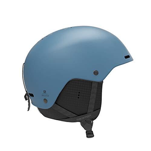 Salomon Herren Ski- und Snowboardhelm, ABS-Schale, EPS 4D-Innenschaum, Größe L, Kopfumfang 59-62 cm, Brigade, blau (Smoke Blue), L40835900
