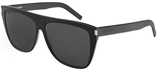 Yves Saint Laurent Sonnenbrillen (SL-1-SLIM 001) schwarz glänzend - grau