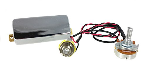 """Chrome""""Snake Oil"""" Mini Humbucker Pre-Wired Pickup Harness with Volume Control - No Soldering Required, Ready to Install!"""