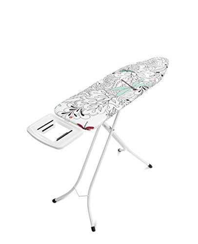 Brabantia Ironing Board with Solid Steam Iron Rest, Metal, White, Size B - Dragonfly