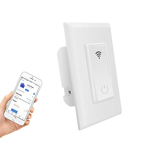 Smart Switch, HHGAOKO Smart Light Switch Work with Alexa or Google Home, Remote Control and Timer Function, Neutral Wire Required, ETL and FCC listed