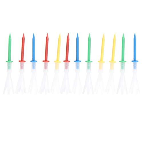 N\A Accesorios de golf 12 unids/lote Multi Color plástico Golf Tees 3 1/4 'Golf Tees 3.25 '' Tee 4 yardas Gonkux Golf Accesorios Regalos para hombres