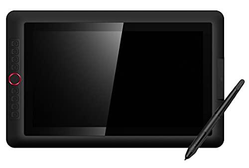 Xyfw Dibujo Tableta Gráfica Digital con Pantalla Pen Display Monitor Full Laminado con Tilt Monitor Pantalla Animación Arte Digital con Tilt 8192 Presión