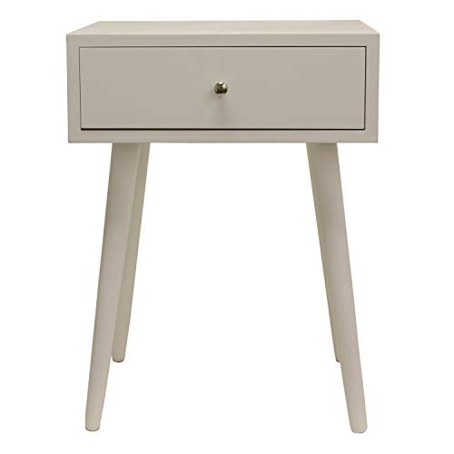 Decor Therapy Side Table, Size: 17.75w 13.75d 23.5h, Gloss White