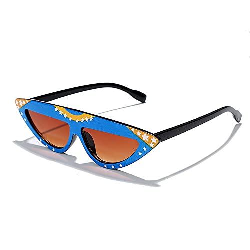 AMFG Triángulo Forma Moda Gafas de sol Gafas de sol Personalidad salvaje Avant-Garde Gafas de sol Bungee (Color : F)