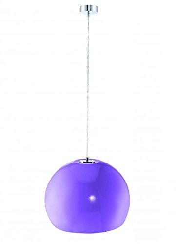 Pendelleuchte BISTRO Retro kugelförmige Hängeleuchte Lampe Leuchte Strahler Rund Metallschirm Blau Lila ∅35cm