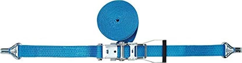 PROMAT DIN 12195-2 sjorband DIN 12195-2 L. 10 m B. 50 mm m. ratel + punt. m. zekering LC U 5000 daN, lengte 10 m breedte 5...