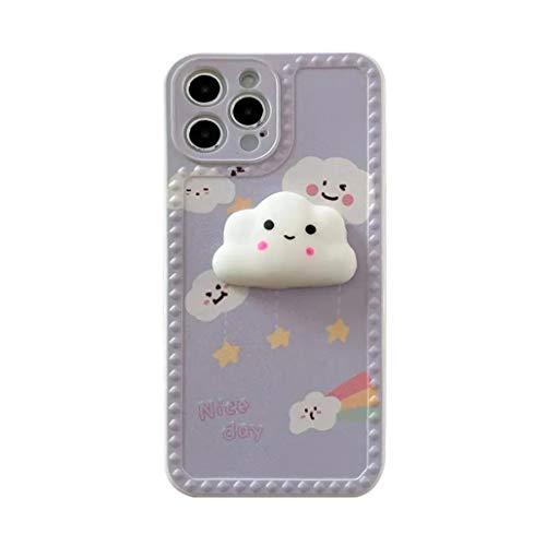 Svnaokr Compatible con iPhone Funda, 3D nubes líquidas, de silicona, protección completa de cuerpo entero, resistente a los golpes, funda para teléfono móvil (para iPhone 7P/8Plus)