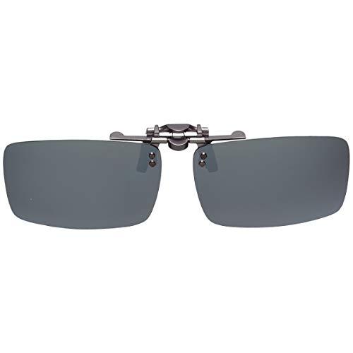 GoodsLand 【 8color 】 クリップオン サングラス 偏光 釣り 運転 調光 眼鏡 メガネ クリップ式 メンズ レディース GD-CL-GLASS-MRSV