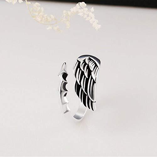 JZHHXXA wijnoogst-eenvoudige kunt- en wijspoot-verstelbare zilveren ring voor mannen vrouwen sterling zilveren ringen