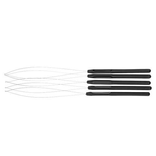 Fenteer Aiguille à Crochet pour cheveux Dreadlocks mini Tresses - Noir