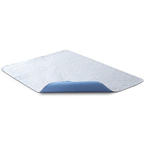 Bedecor 2X Lavables colchón Protector Impermeable/Colchón Incontinencia,Antibacteriano, Anti-ácaro,para incontinencia, niños, Adultos Mayores - 70 x 90cm (Azul)